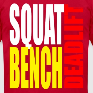 Squat Bench Deadlift - Men's T-Shirt by American Apparel