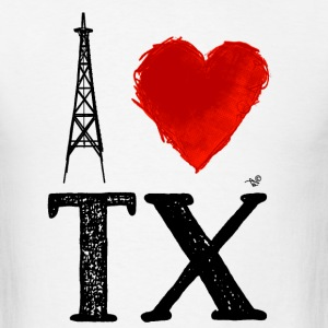 I Heart Texas (remix) by Tai's Tees - Men's T-Shirt