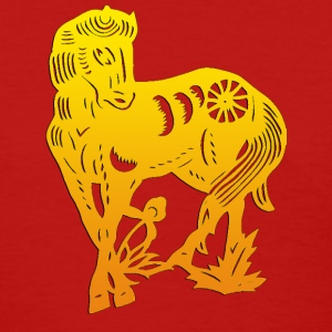 Year of The Horse Chinese Paper Cut T-Shirt - Women's T-Shirt