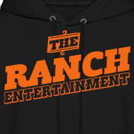 Design ~ Original Men's Hoodie 4 Orange on Black