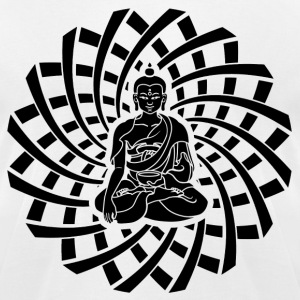Shakyamuni Buddha in black - Men's T-Shirt by American Apparel