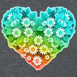 Flower Heart - Nature - Valentines Women's T-Shirts - Women's T-Shirt