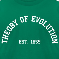 Theory of Evolution - Est. 1859 (half-circle) T-Shirts