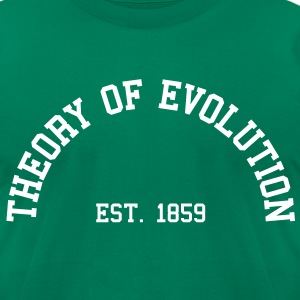 Theory of Evolution - Est. 1859 (half-circle) T-Shirts - Men's T-Shirt by American Apparel