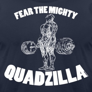 Funny Gym Shirt - Quadzilla 2 - Men's T-Shirt by American Apparel