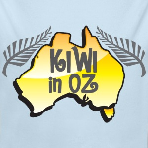 KIWI in Oz funny New Zealand in Australia Baby & Toddler Shirts - Long Sleeve Baby Bodysuit