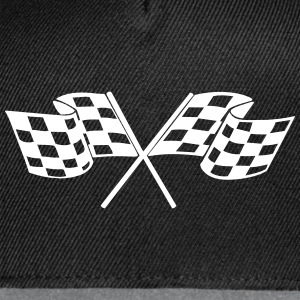 Racing - Racer - Checkered Flag Caps - Snap-back Baseball Cap