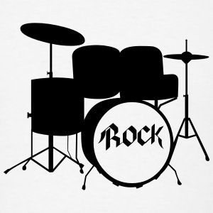 Rock Drummer - Drums - Rock and Roll - Band T-Shirts - Men's T-Shirt