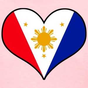 Pinoy Heart Womens Filipino Tshirt - Women's T-Shirt