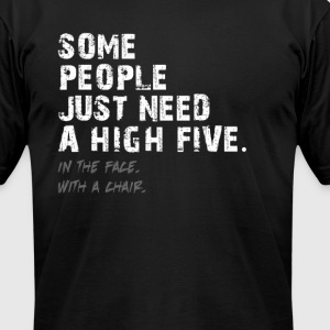 High Five - Face - Chair T-Shirts - Men's T-Shirt by American Apparel