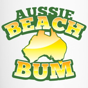 Aussie BEACH Bum with Australian Map Bottles & Mugs - Travel Mug