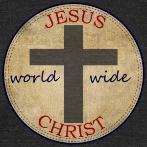 Jesus World Wide T-Shirts - Unisex Tri-Blend T-Shirt by American Apparel