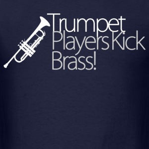 trumpet player kick brass - Men's T-Shirt