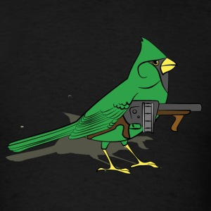 Budgie with a Gun T-Shirts - Men's T-Shirt