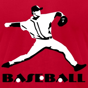 Baseball - Baseball Player T-Shirts - Men's T-Shirt by American Apparel