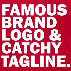 famous logo T-Shirts - Men's T-Shirt by American Apparel