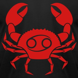crab cancer zodiac astrology horoscope - Men's T-Shirt by American Apparel