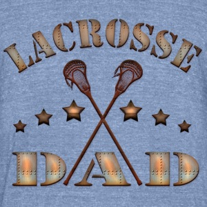 Lacrosse Dad Steampunk Style T-Shirts - Unisex Tri-Blend T-Shirt by American Apparel