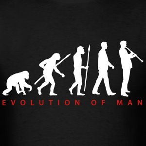 evolution_klarinette_spieler_082013_b_2c T-Shirts - Men's T-Shirt