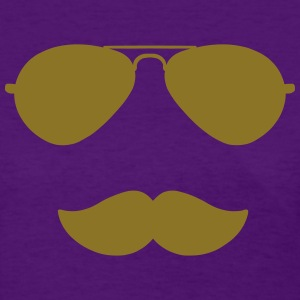 Aviator Sunglasses and Moustache Women's T-Shirts - Women's T-Shirt