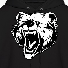 Bear Face  Hoodies