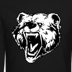 Bear Face  Long Sleeve Shirts