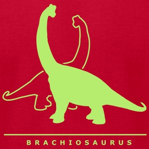 Prehistoric Giants: Brachiosaurus T-Shirts - Men's T-Shirt by American Apparel
