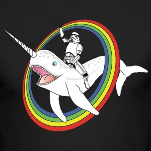 Narwhal Rainbow Stormtrooper - Men's Long Sleeve T-Shirt by Next Level