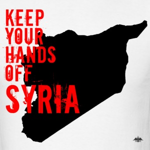 Hands OFF Syria - Men's T-Shirt