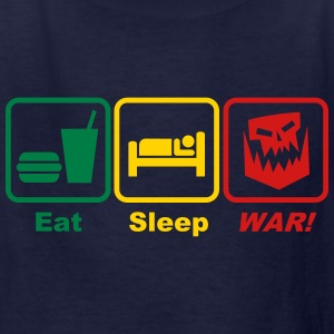 eat sleep war 3c Kids' Shirts - Kids' T-Shirt