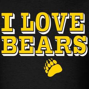 I LOVE BEARS - Men's T-Shirt