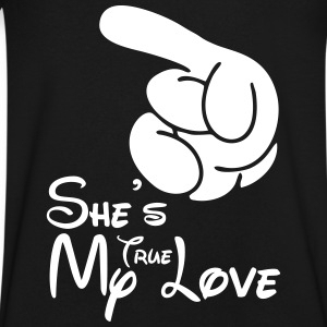 She's My True Love T-Shirts - Men's V-Neck T-Shirt by Canvas
