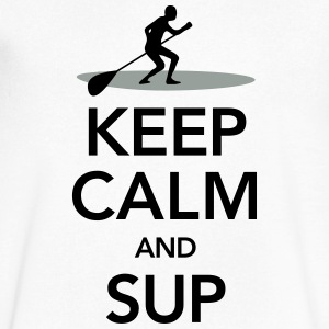 Keep Calm And SUP T-Shirts - Men's V-Neck T-Shirt by Canvas