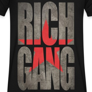 Rich Gang T-Shirts - Men's V-Neck T-Shirt by Canvas