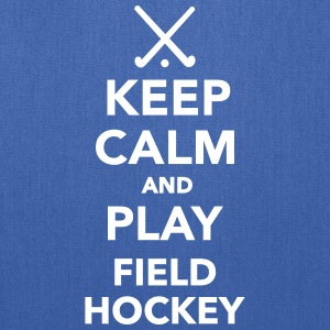 Keep calm play Field Hockey Bags & backpacks - Tote Bag