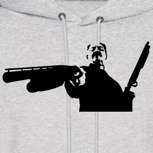 Machete - Priest with big guns Hoodies - Men's Hoodie