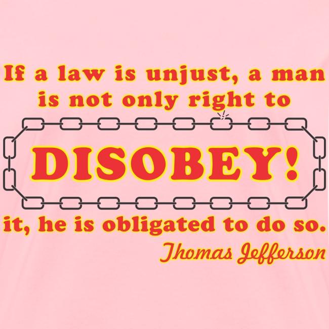 disobey jefferson f