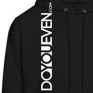 Design ~ Men's DYE.com Hoodie - White Text