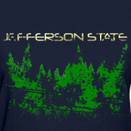 Design ~ Women's Jefferson State T-Shirt (distressed)