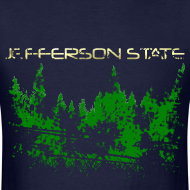 Design ~ Men's Jefferson State T-Shirt (distressed)