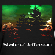 Design ~ Women's State of Jefferson (trees) T-Shirt