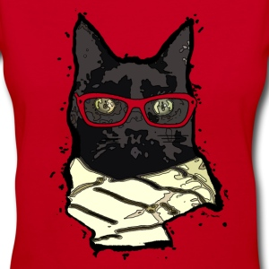Cool Cats - Sophisticat Women's T-Shirts - Women's V-Neck T-Shirt