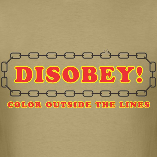 disobey outside lines