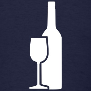 Wine bottle Glass T-Shirts - Men's T-Shirt