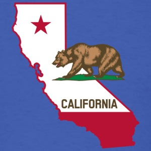 California Silhouette and Flag - Men's T-Shirt