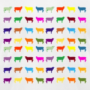 colorful cows T-Shirts - Men's T-Shirt by American Apparel