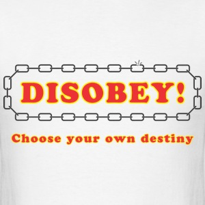 disobey_choose_destiny T-Shirts - Men's T-Shirt