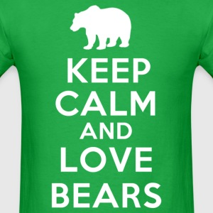 keep calm and love bears - Men's T-Shirt