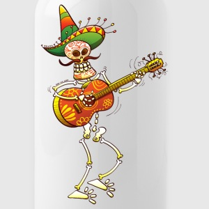 Mexican Skeleton Playing Guitar Bottles & Mugs - Water Bottle