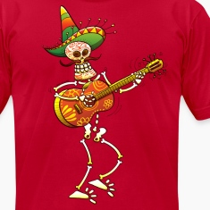 Mexican Skeleton Playing Guitar T-Shirts